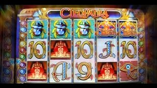 Live Bonus RE-TRIGGER on Cleopatra + BIG LINE HIT! - 5c IGT Video Slots