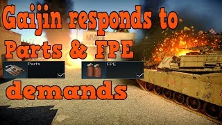 Gaijin Responds the Parts & FPE and Possible RP Gain Reduction - War Thunder Weekly News