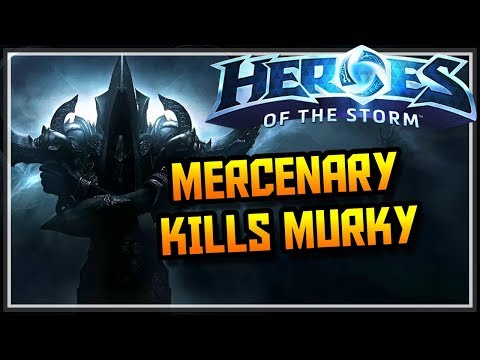 Heroes Of The Storm Malthael Gameplay - MERCENARY KILLS MURKY! - HotS Malthael Gameplay