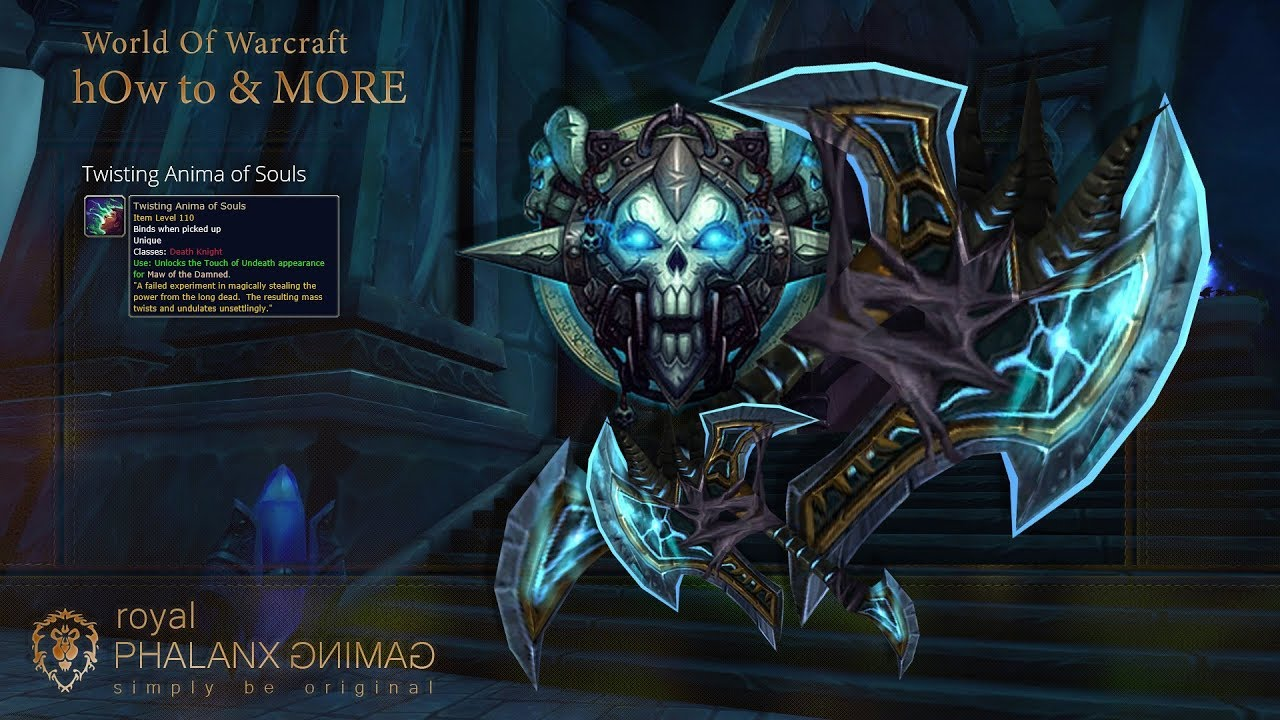 Blood Death Knight Artifact Maw Of The Damned Hidden Skin The Touch