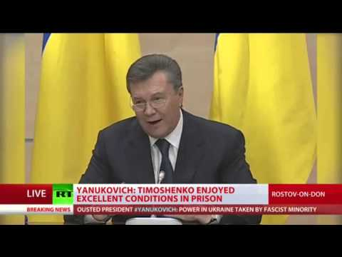 UKRAINE Toute la conférence . presse du président Yanukovich le 28-02-2014