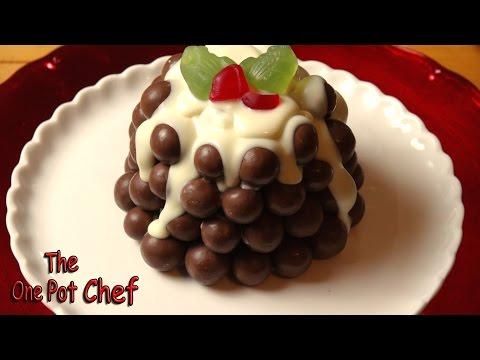 No Bake Chocolate Christmas Pudding | One Pot Chef