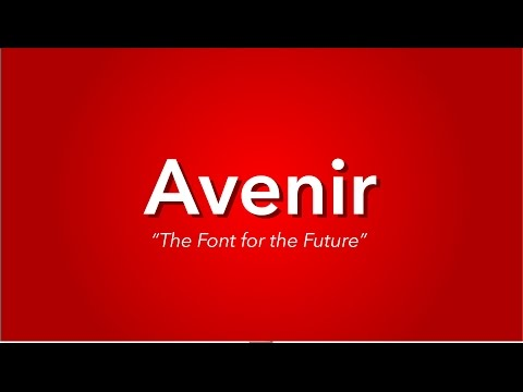 What is Avenir?   TYPOGRAPHY EXPLAINED