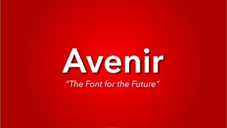 What is Avenir? | TYPOGRAPHY EXPLAINED