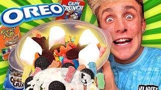 Mystery Wheel Of Cereal Challenge! *OREO CEREAL* Learn How To Make DIY Sour Gummy Cereal!