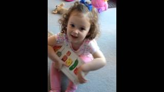 Alice reads The Very Hungry Caterpillar