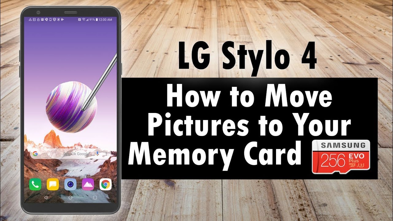 LG Stylo 4 How to Move Pictures to Your Memory Card   H2TechVideos