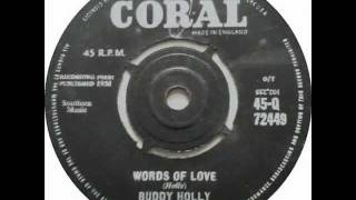 Buddy Holly - Words of love (1957)