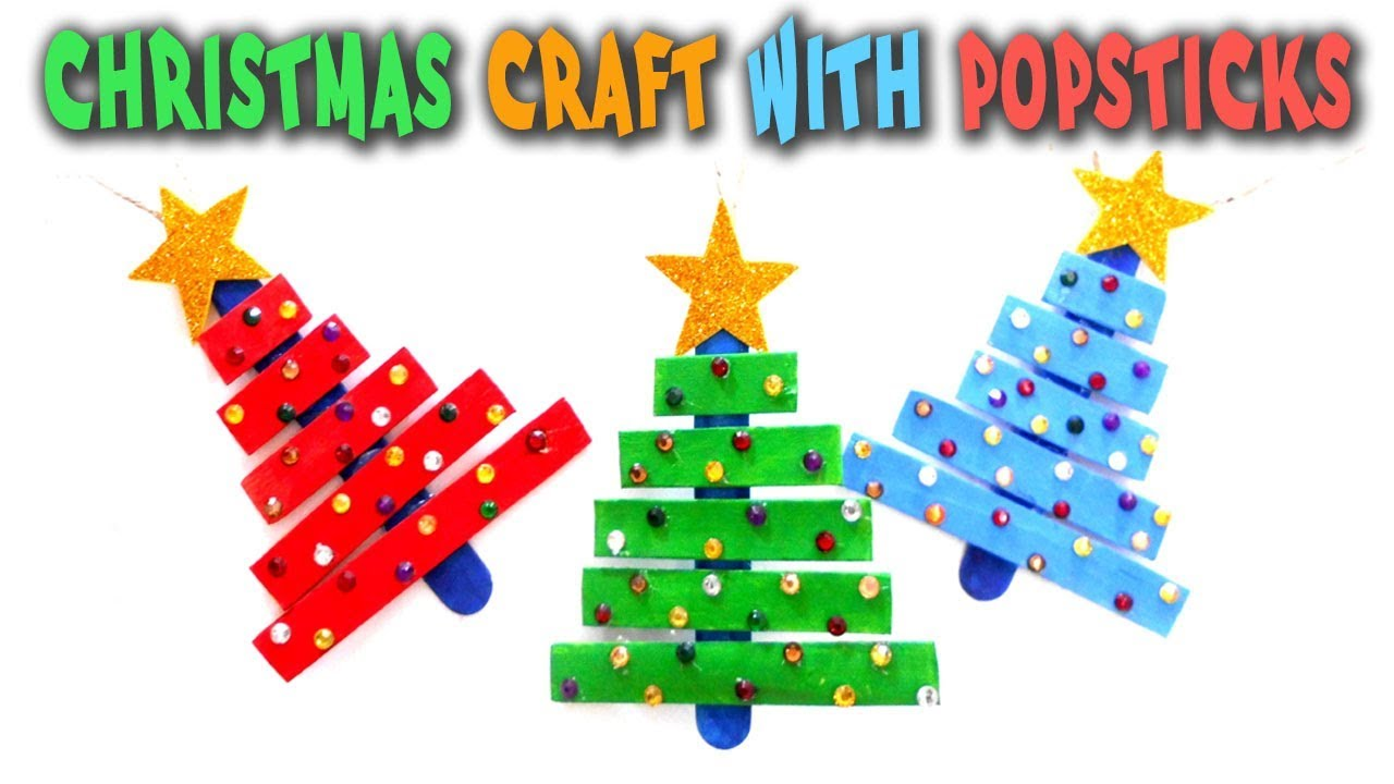 Christmas Craft With Popsticks