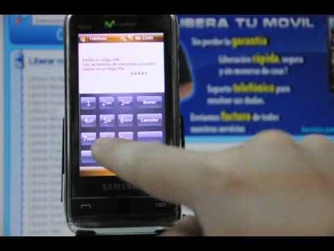 Como liberar Samsung i900 Omnia por código en www.movical.net