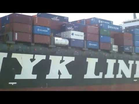 Bay Area Container Ship Spotting - NYK Argus inbound to Port of Oakland  June 17, 2013