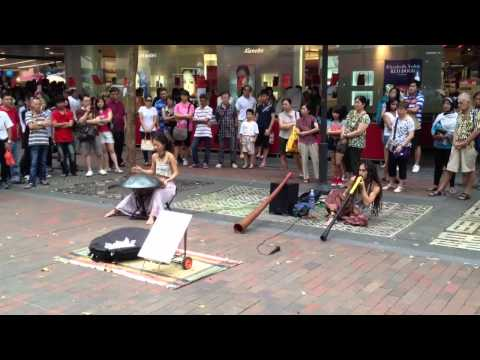 """A Bit of Fused Music:"""" French Hang (drum) and Australian Didgeridoo"""