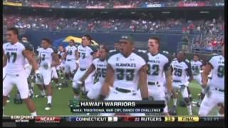 Hawaii Haka vs. San Diego State 2012 Qualcomm Stadium San Diego California