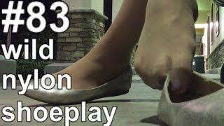 [AoS083] 👠 more wild nylon shoeplay in public
