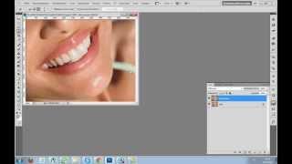 Kalis12 Photoshop видеоурок №2 - Как сделать белее зубы на фото
