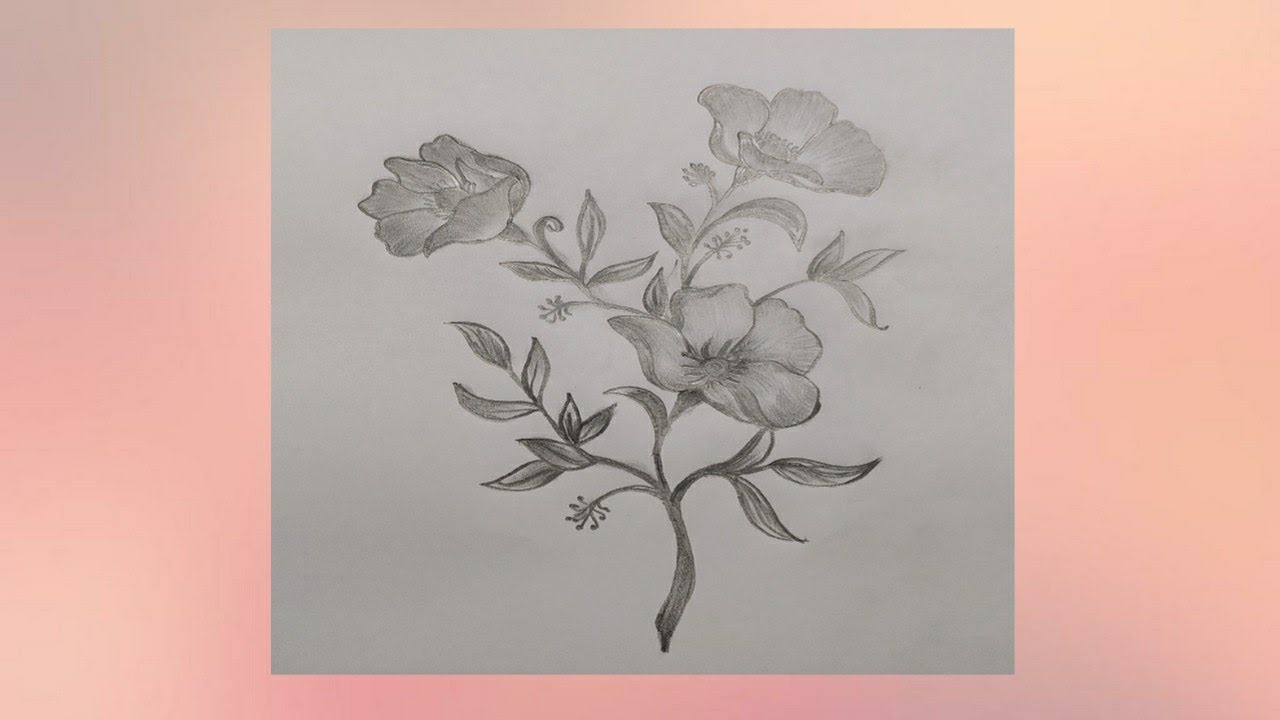 Drawing Of Beautiful Flowers Step By Step How To Draw Pretty Flowers To Easy Way Youtube
