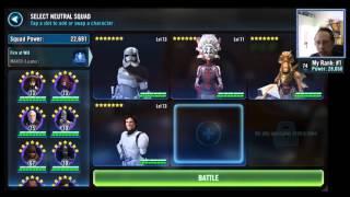 Star Wars: Galaxy of Heroes - Raid Time! Rancor Battle Go
