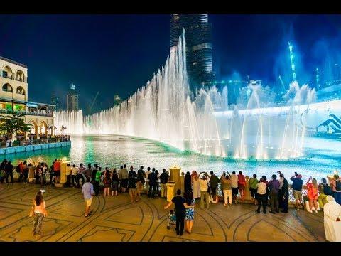 The Dubai Fountain – Héroe   Enrique Iglesias 4K