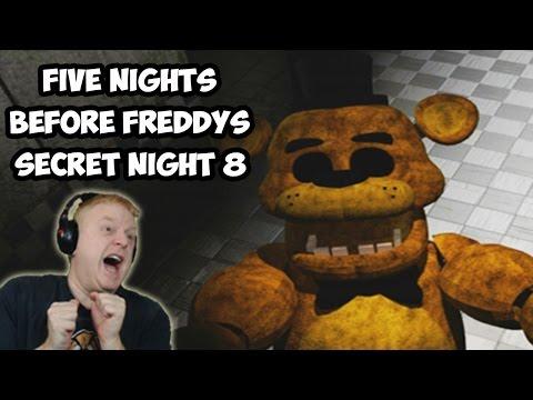 SECRET NIGHT 8 | GOLDEN FREDDY WAS LEFT BEHIND | FIVE NIGHTS BEFORE FREDDYS PLAYTHROUGH ( ENDING )