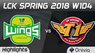 JAG vs SKT Highlights Game 1 LCK Spring 2018 W1D4 Jin Air Green Wings vs SK Telecom T1 by Onivia