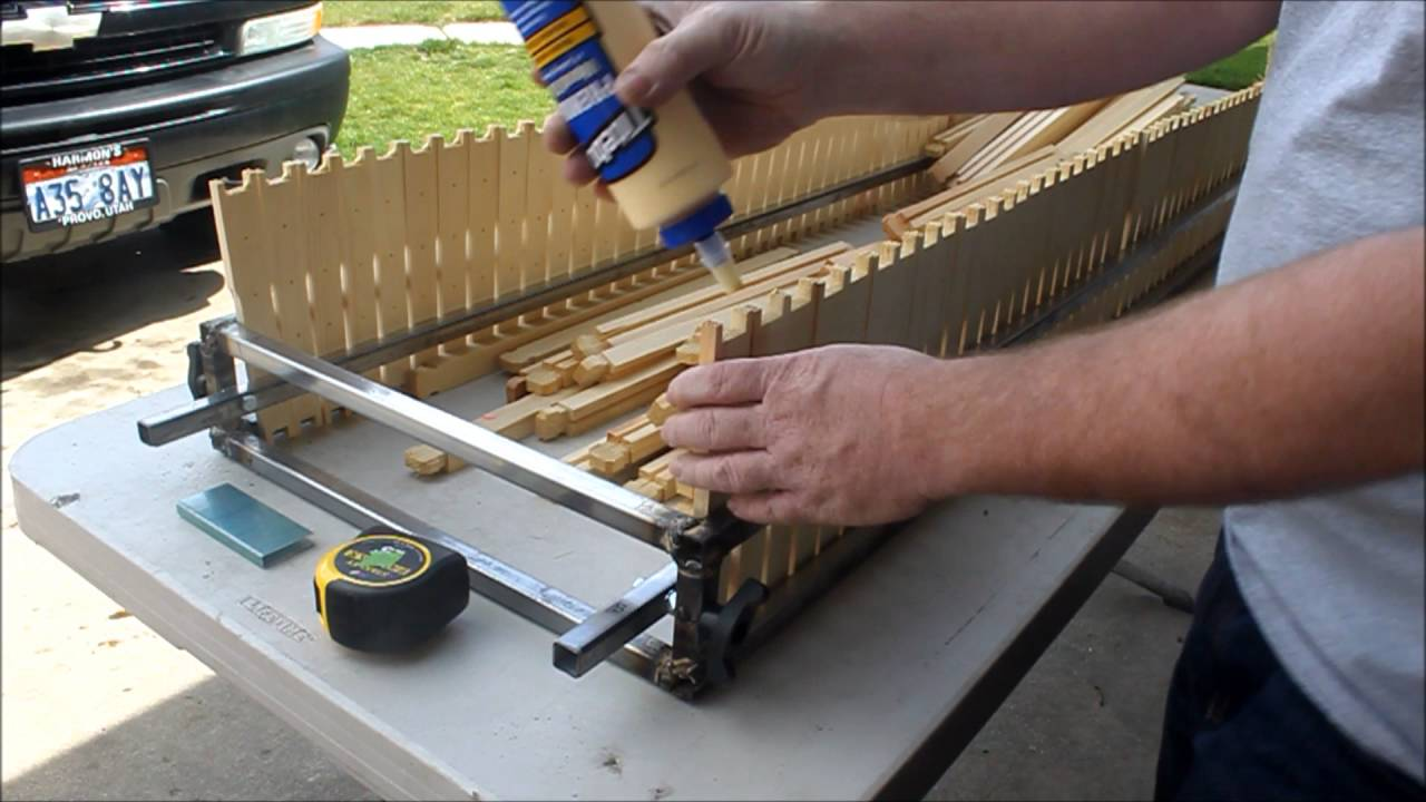 Bee Hive Frame Jig and Frame Assembly - YouTube