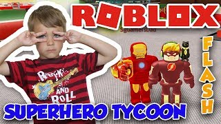 I AM FLASH in ROBLOX SUPERHERO TYCOON | MY SPEED IS INSANE !
