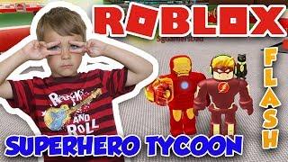 SOY FLASH en ROBLOX SUPERHERO TYCOON MI VELOCIDAD ES INSANE !