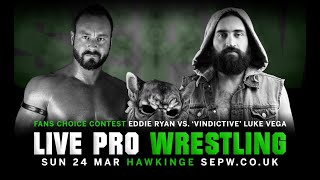 SEPW Wrestling 2019 | Eddie Ryan vs. Luke Vega | (24/03/2019)
