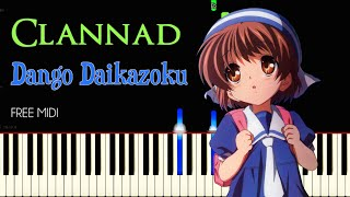 Clannad - Dango Daikazoku | Synthesia w/MIDI