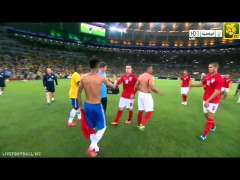 Neymar exchange T-shirt with Alex Oxlade-Chamberlain ( Brazil v England )