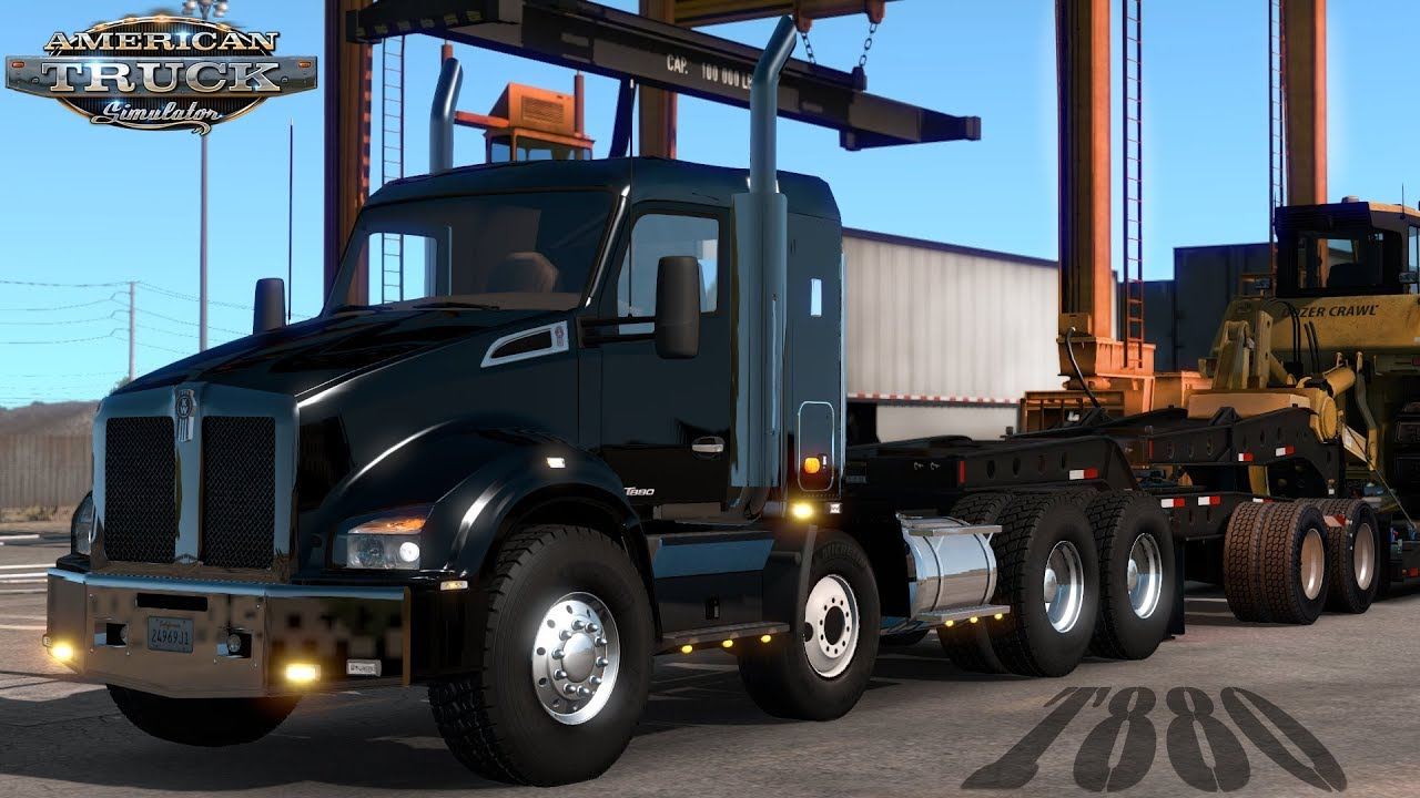 Kenworth Custom T880 Mega Sleeper And I Don39t Think Its T Wiring Diagram American Truck Simulator Heavy Haul With Fwd Steer Axle