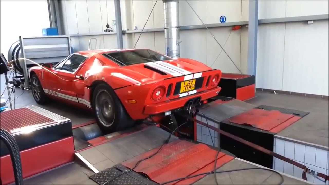 Ford Gt  L Whipple Supercharger Dyno Run Flames