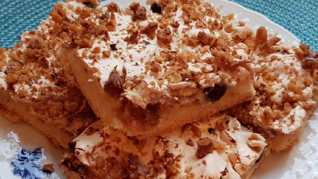 """Лимонное пирожное"""" Софи Лорен"""" с орехами и безе . Рецепт ..."""