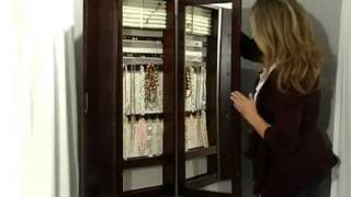 Tri Fold Photo Frame & Mirror Wall Mount Jewelry Armoire Espresso - Product Review Video
