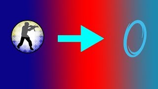 Source Mounting: Counter-Strike Source Mounted onto Portal 1