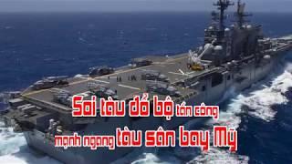 Soi tàu đổ bộ tấn công mạnh ngang tàu sân bay Mỹ