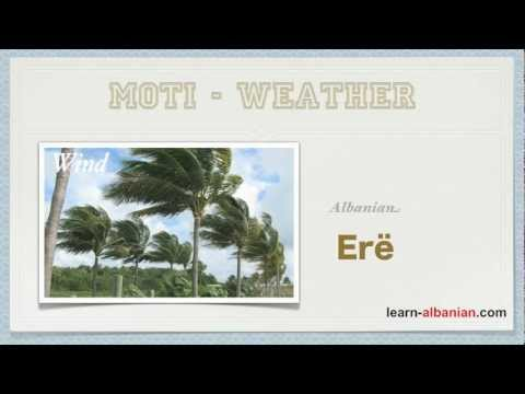 The Weather in Albanian / Learn Vocabulary and Pronunciation