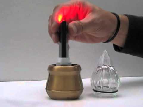 Eterna inserita in una lampada votiva youtube for Lampade votive a led