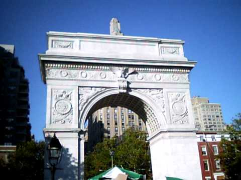 Washington Square Arch in NYC (back side)