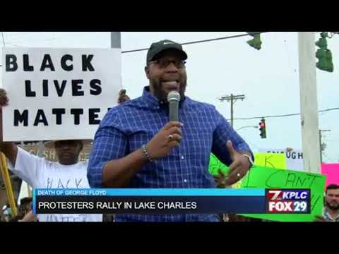 Pastor E Speaking At The Peaceful Protest In Lake Charles, LA