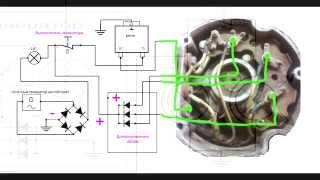 Как установить генератор на мотоблок без АКБ (видеоответ- схема)(В этом видео сделал видео ответ как подключить генератор от авто и подключить его на китайском мотоблоке,..., 2015-05-30T17:10:25.000Z)