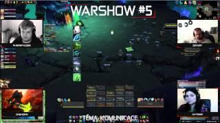 VOD l Warshow #5 WoW CZ/SK Talkshow l Hosté: Dipdap, Nytaha, Onehorn