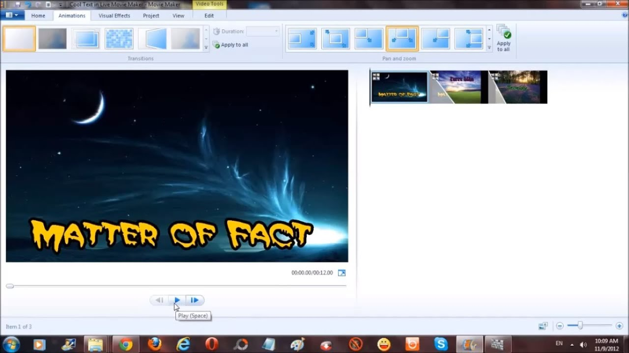 How to Add Cool Looking Text to Windows Live Movie Maker ...