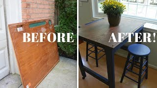 Eat-in Kitchen Table Makeover - Furniture Makeovers - Thrift Diving