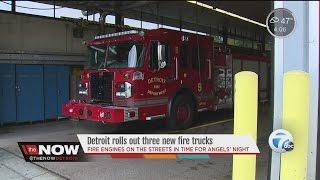 Detroit rolls out three new fire trucks