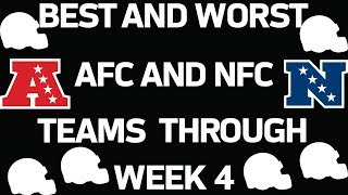 Best and Worst AFC and NFC Teams Through Week 4 | Good Morning Football | NFL Network