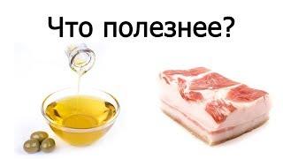 Оливковое масло или сало - что полезнее?