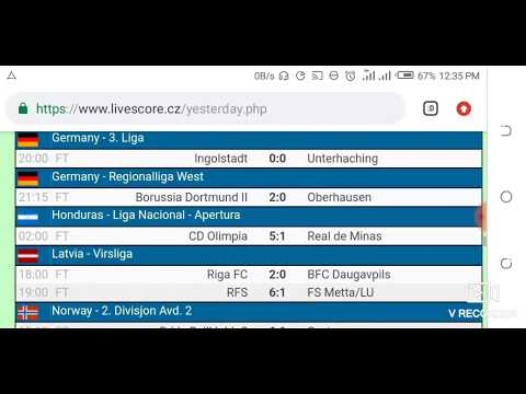Yesterday S Football Results