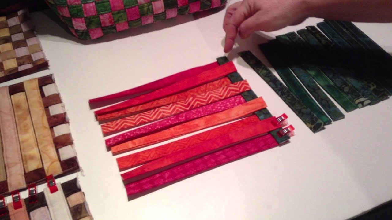 Weaving Fabric Strips For Aunties Two Bags Youtube