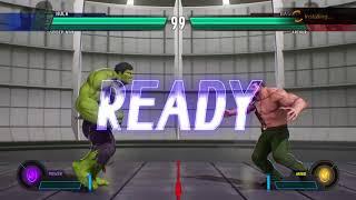 MARVEL VS. CAPCOM: INFINITE Spider-Man and Hulk vs Hagger and Arthur